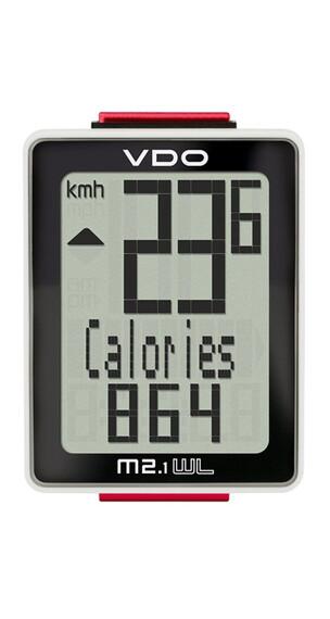 VDO M2.1 WR fietscomputer wit/zwart